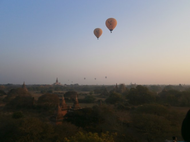 A lovely view of Bagan during sunrise