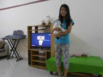 With Phyu Phyu and her adorable Whitey! (1)