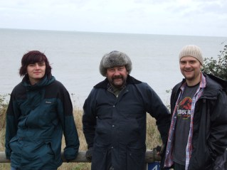sam,rob and craig on the cliff