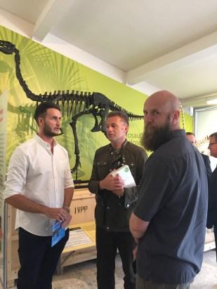 Dean Lomax, Chris Packham and Matt Holmes