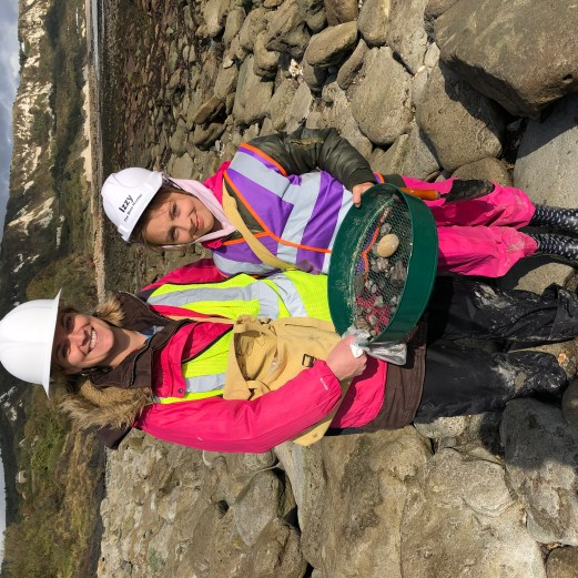 Jo and Isabel with their finds