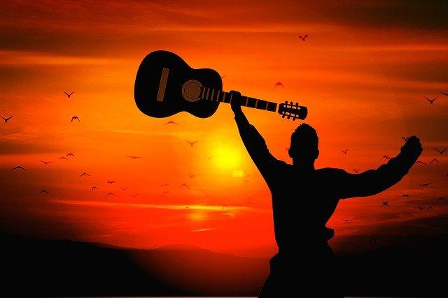 Man Guitar Silhouette Sunset  - geralt / Pixabay