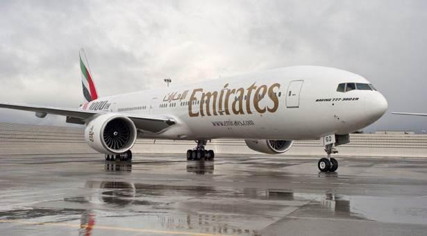 An Emirates Boeing 777-300