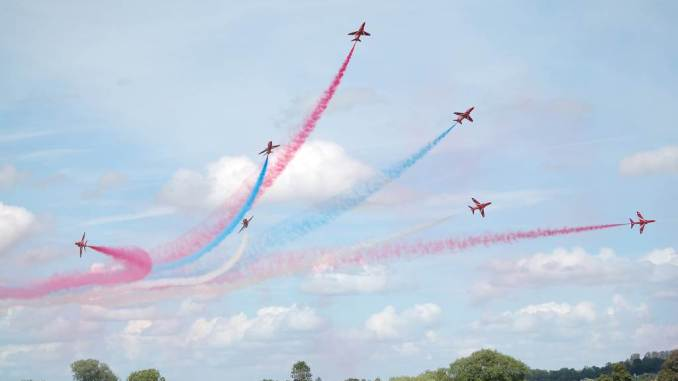 The Red Arrows and Airbus A400M