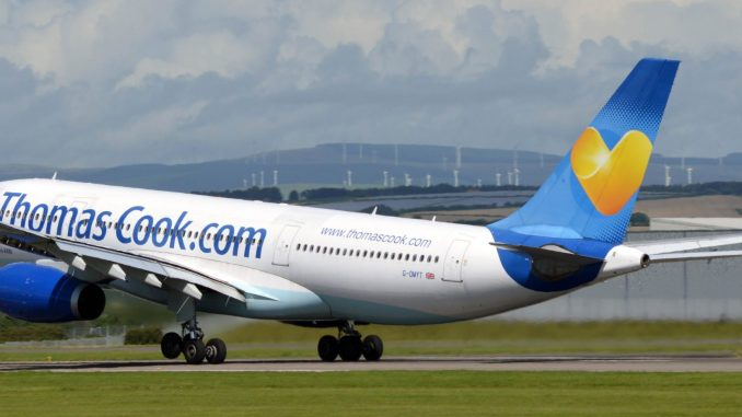 G-OMYT Lifts off from Cardiff to Orlando (Credit N Harding)