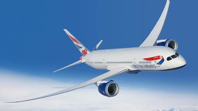 British Airways Boeing 787 (Courtesy of British Airways)