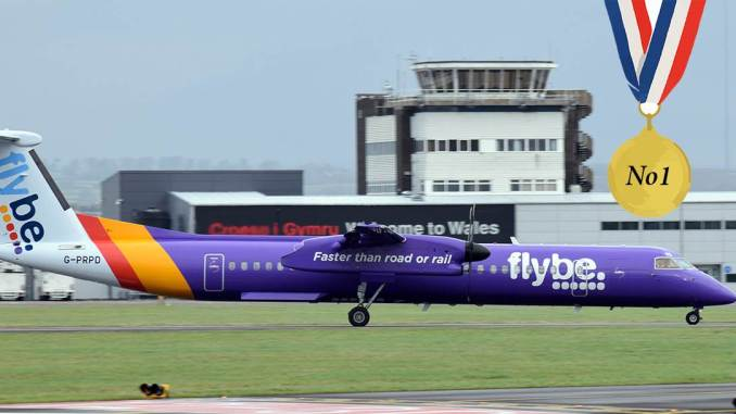 Flybe Dash 8 at Cardiff Airport