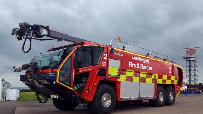 cardiff airport launches new fire engines uk aviation news