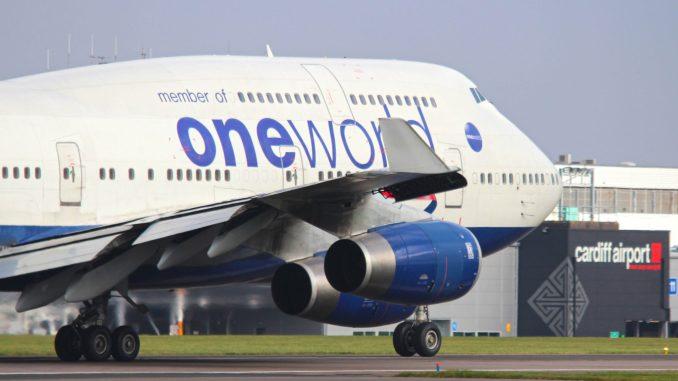 British Airways 747 G-CIVI at Cardiff Airport (Image: Nick Harding/Aviation Wales)