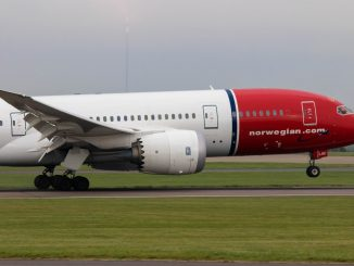 Norwegian 787 landing at Cardiff Airport (Image: The Aviation Media Co.)