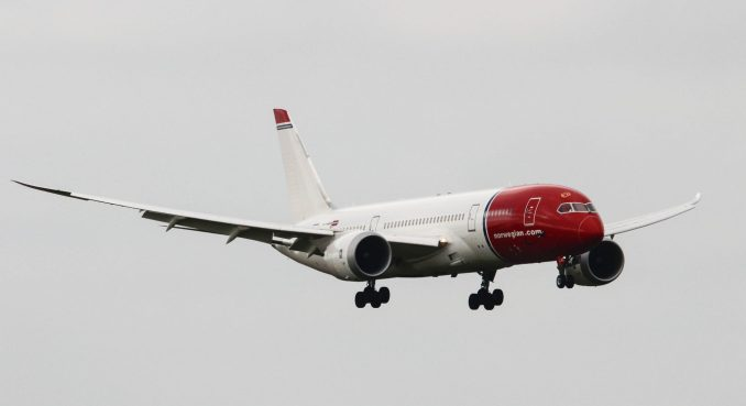 Norwegian LN-LNC on Approach to Cardiff Airport (Image: TransportMedia UK)