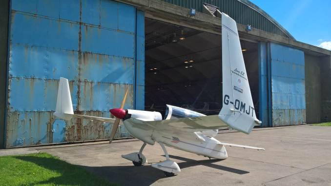 The Long EZ outside Horizons hangar at St Athan (Image: Nick Harding/Aviation Wales)