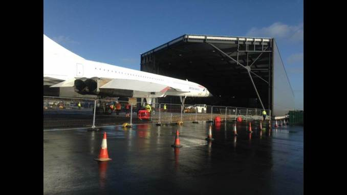 Concorde moves into its new home at Filton (Image: Steve Beal)
