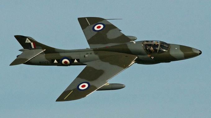 Hawker Hunter G-BXFI Hunter G-BXFI (Image: Alan Wilson CC BY-SA2.0)