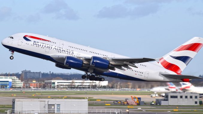 British AIrways A380 at London Heathrow (Image: Nick Harding \ Aviation Wales)