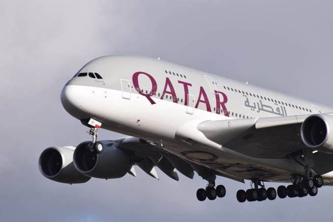 Qatar Airways A380 (Image: Aviation Wales)