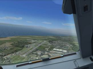 Looking down onto MOD St Athan in FSX!