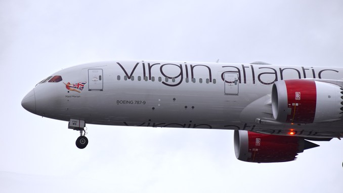Virgin Atlantic Boeing 787-9 G-VOWS (Image: Aviation Media Agency.)