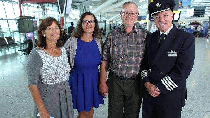 Captain Steve Allright, Ronnie Leach and Family