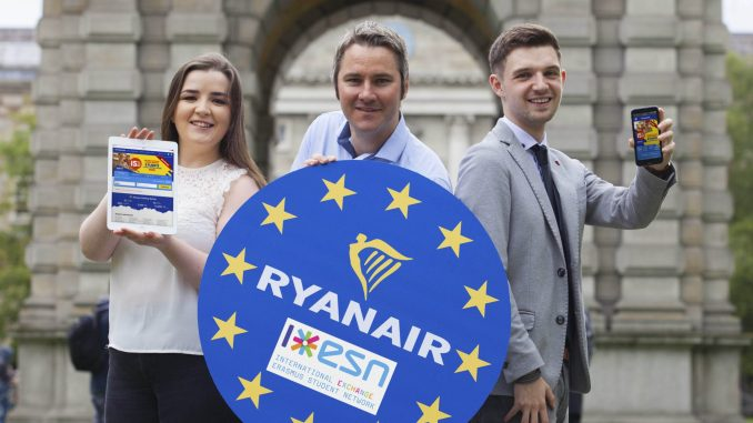 Ryanair launches Erasmus website