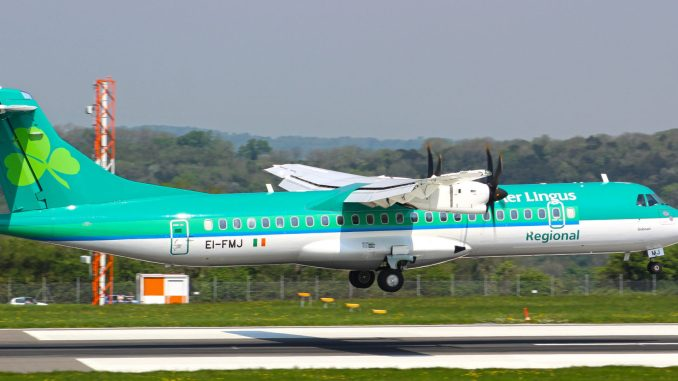 An Aer Lingus Regional flight operated by Stobart Air