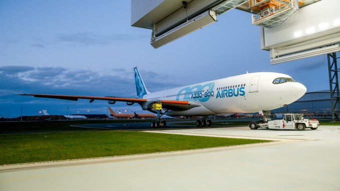 First A330-800neo breaks cover in Toulouse