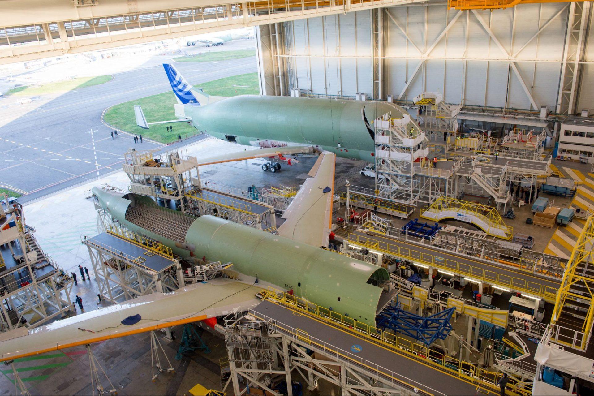 BelugaXL No1 assembly (Image: P.Masclet/Airbus)