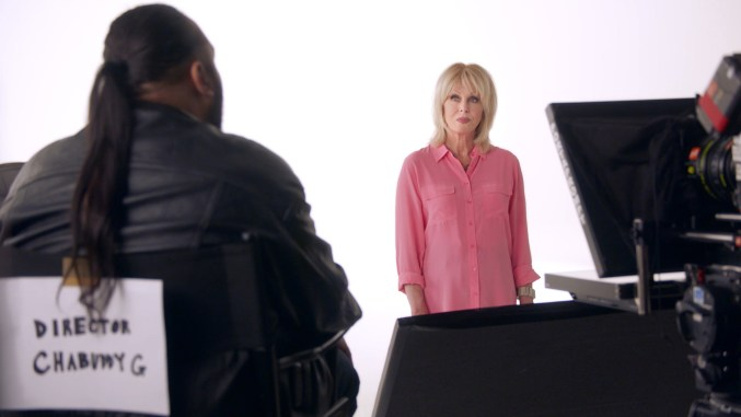 Joanna Lumley auditions for BA Safety Video