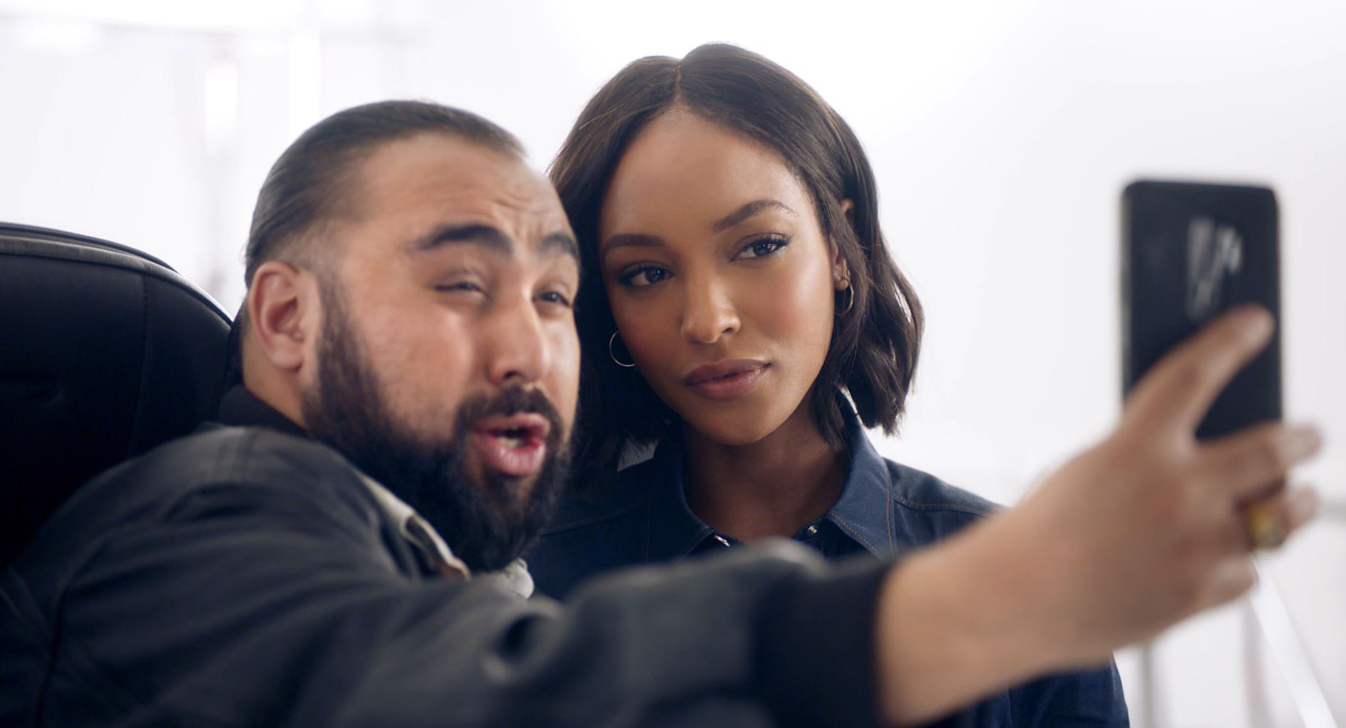 Jourdan Dunn auditions for BA Safety Video