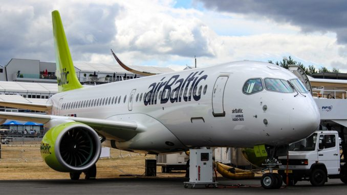 Airbus A220-300 in Air Baltic livery (Image: TransportMedia UK)