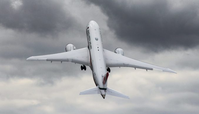 Boeing demonstrated the 787-8 with a near vertical take-off (Image: Aviation Media Agency)