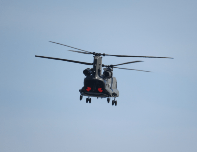 The Chinook helicopter was phenomenal and when the rear opened and a man appeared waving 2 giant red hands, he got a really good clap!