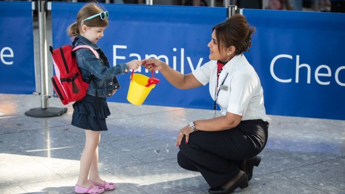 British Airways family zone at Heathrow Airport