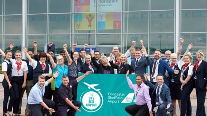 Doncaster Sheffield Airport celebrates topping customer satisfaction survey (Image: DSA)