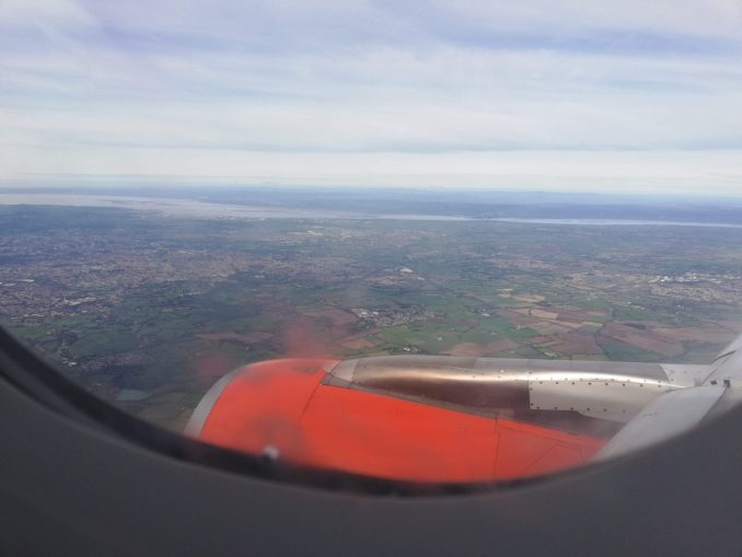 On Final approach to Bristol Airport
