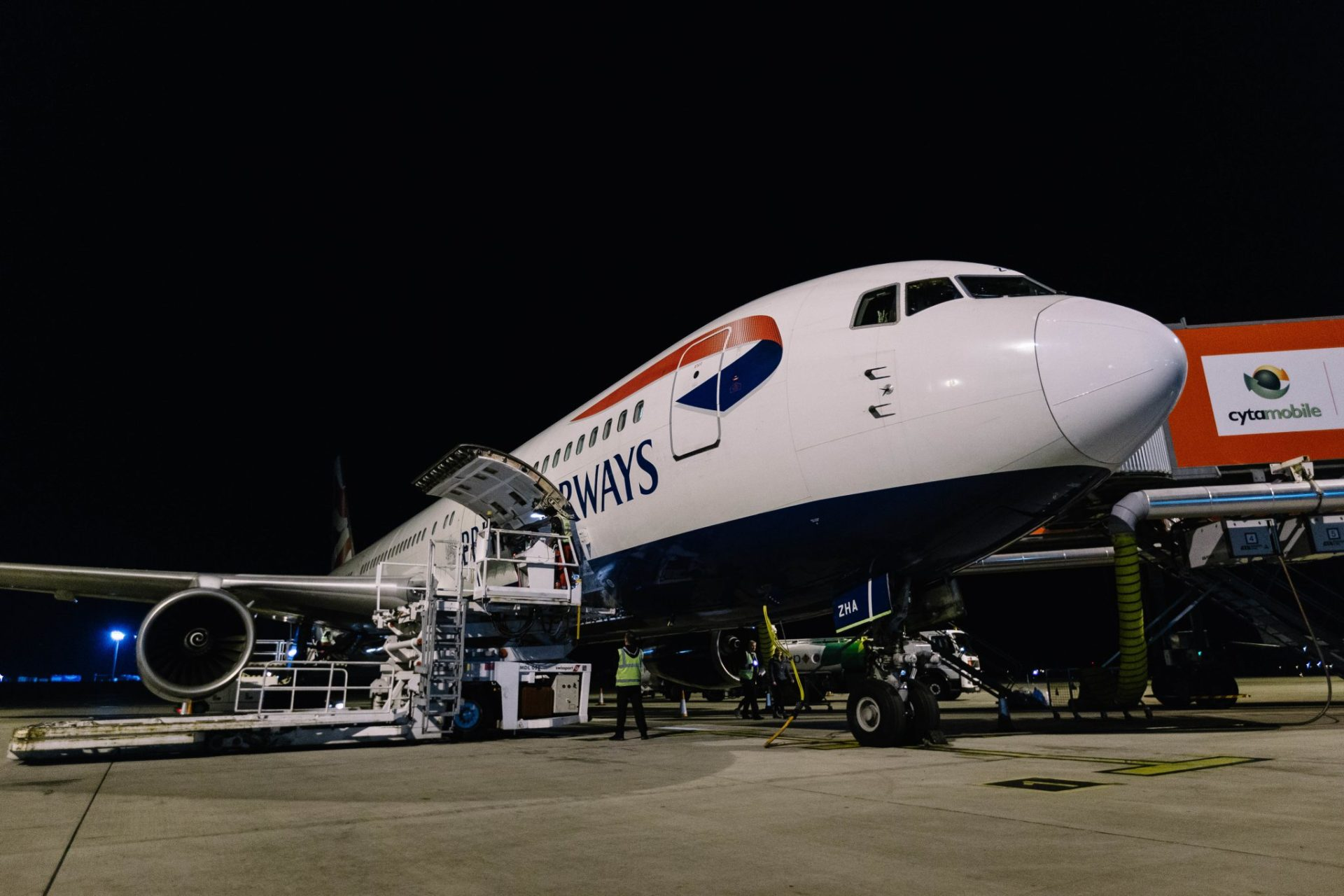 Boeing 767 G-BZHA prepares to leave Larnaca for the final BA 767 commercial flight (Image: Stuart Bailey www.StuartBaileyPhoto.com)