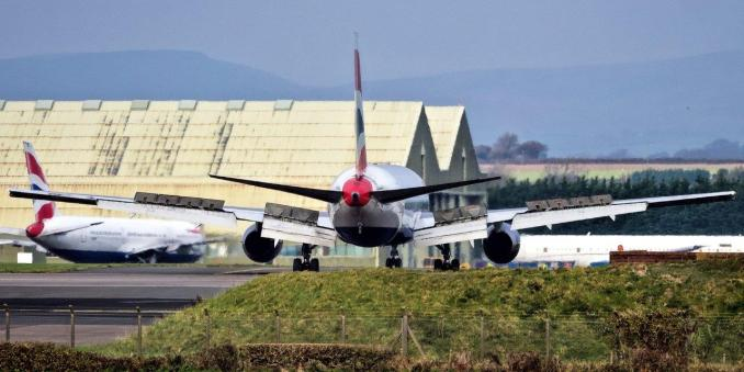 The final British Airways 767 joins her sister ships at MOD St Athan to await her fate. (Image: Philip Dawson)