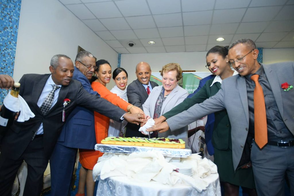 Ethiopian Airways inaugural flight from Manchester Airport