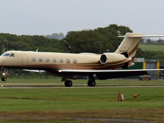 An Embraer Executive Jet arrives at Cardiff Airport. Aircraft like these will now be handled by Global Trek Aviation (Image: The Aviation Media Agency.)