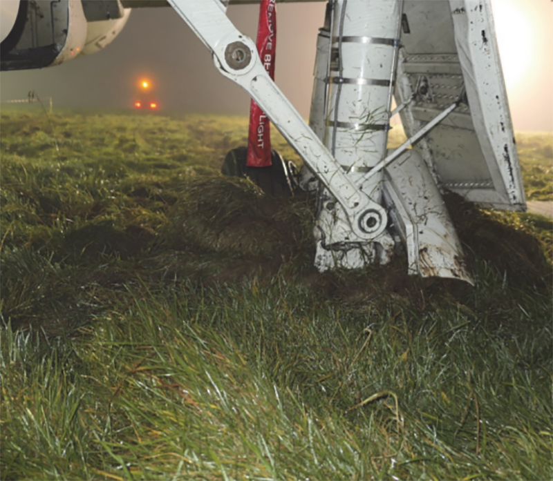 Damage to Landing Gear (Image: AAIB/OGL)