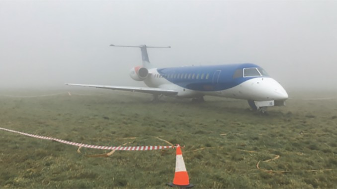BMI Regional G-CKAG after the incident at Bristol Airport (Image: AAIB/OGL)