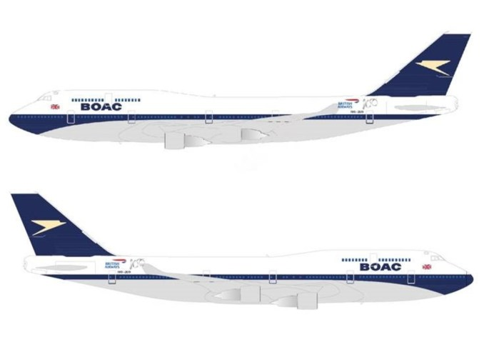British Airways BOAC retro-jet G-BYGC