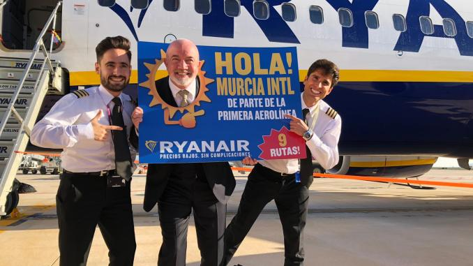 Ryanair is first airline to land at Murcia's new airport (Image: Ryanair/Twitter)