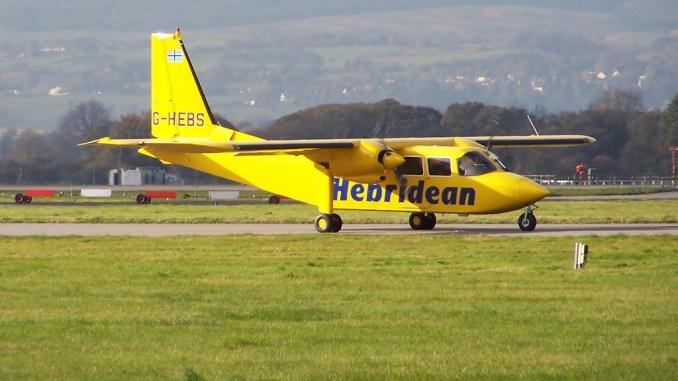 Hebridean Air Services Islander (Image: Mark Harkin CC BY-SA2.0)
