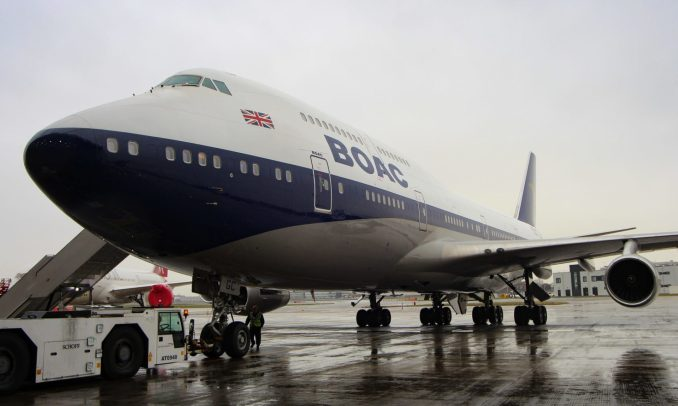 British Airways retro liveried BOAC Boeing 747-400 G-BYGC (Image: Aviation Media Agency)