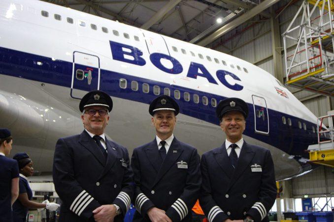 BA100 flight crew (Image: Aviation Media Co.)