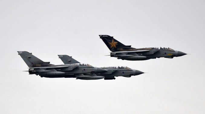 The Tornado Flypast in formation (Image: Ian Grinter)
