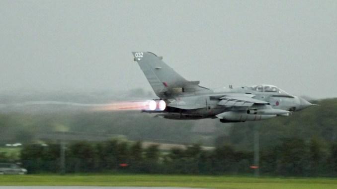 RAF Tornado at Cardiff Airport (Image: Aviation Media Co.)
