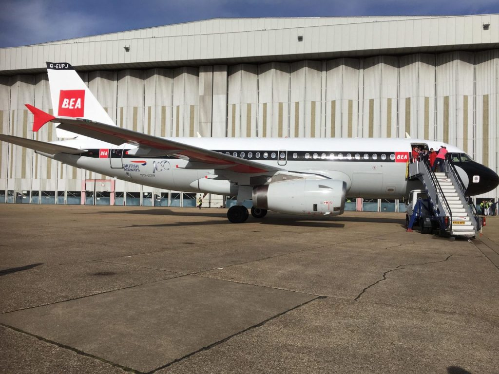 G-EUPJ in her BEA livery at Heathrow (Image: Jamie Woodhouse-Wright/Aviation Media Co.)