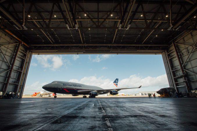 Landor G-BNLY coming out of the Hangar (Image: British Airways)